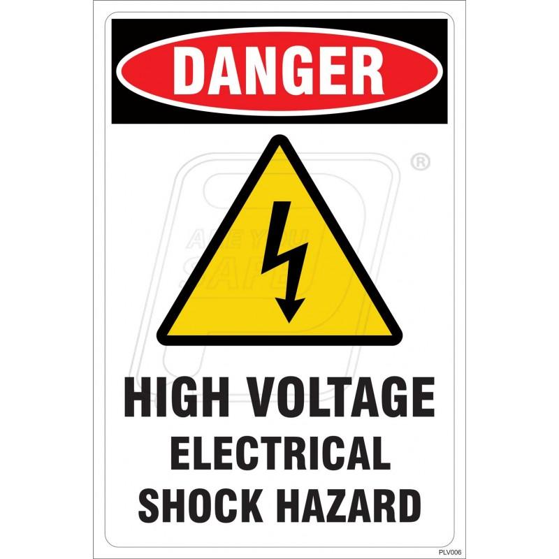 High Voltage Safety Training : High voltage electrical shock hazard