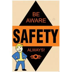 Be aware safety always