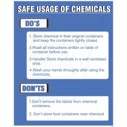 Safe usage of chemicals