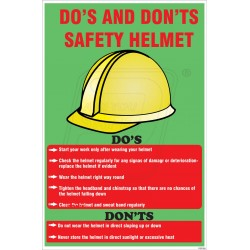 Do's and don't s safety helmet