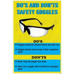 Do's and don't s safety goggles