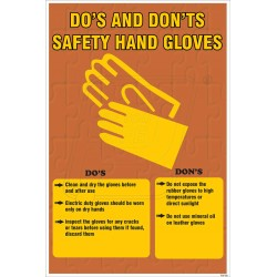 Do's and don't s safety hand gloves