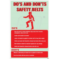 Do's and don't s safety belt