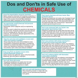 Do's and don't s in safe use of chemicals