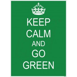 Keep clam and go green