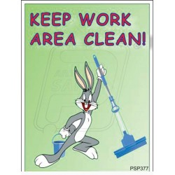Keep work area clean