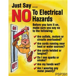 No to electrical hazards