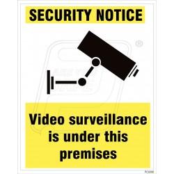 Video surveillance is under this premises