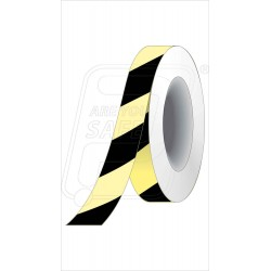 Night glow black diagonal tape 25 mm X 10 M