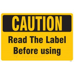Read the label before using