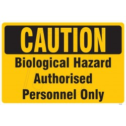 Biological hazard authorised personnel only