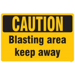 Blasting area keep away