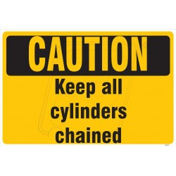 Keep all cylinder chained