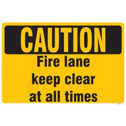 Fire lane keep clear all times