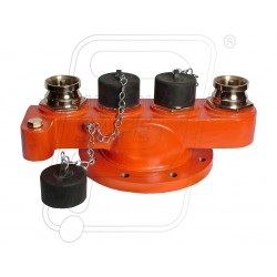 Fire hydrant three inlet breeching valve SS