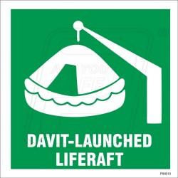 Davit lauched liferaft