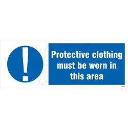 Protective clothing must be worn in this area