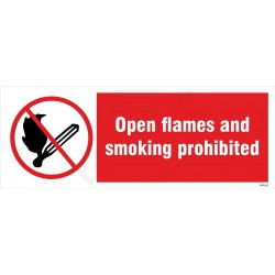 Open flames and smoking prohibited