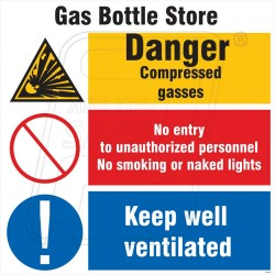 Gas bottle store space identification