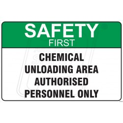 Chemical unloading area authorised personnel only
