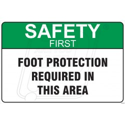 Foot protection required in this area