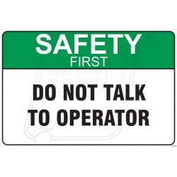Do not talk to operator