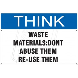Don't waste material