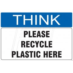 Please recycle plastc here