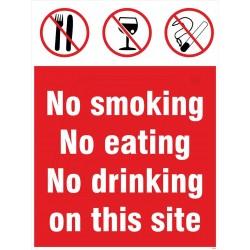 No eating, smoking & drinking