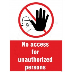 No access for unauthorised person