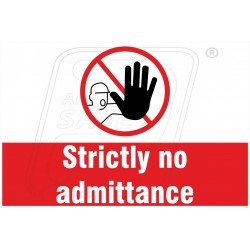 Strictly no admittence