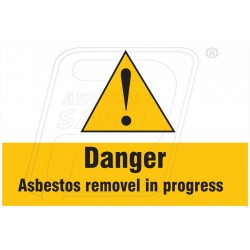 Danger asbestos removal in progressive