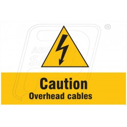 Caution overhead cables