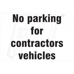No parking for contractor
