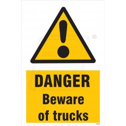 Danger beware of truck