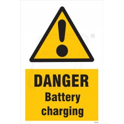 Danger Battery Charging