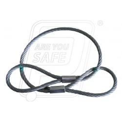 Wire rope slings with plane eye loop 3T X 4M
