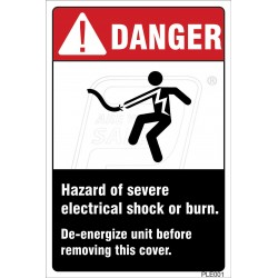 Hazard Of Severe Electrical Shock Or Burn
