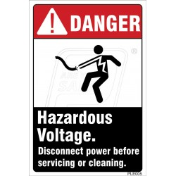 Hazardous voltage.