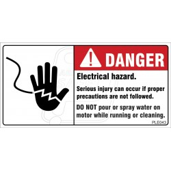 Hazardous Voltages Cause Sever Injury Or Death