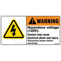 Hazardous Voltage Enclosed.