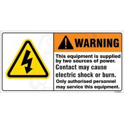Severe Shock Hazard.