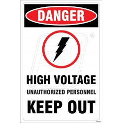High Voltage Unauthorized Personnel Keep Out