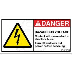 Hazardous Voltage Enclosed.
