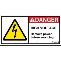 Hazardous Voltage.