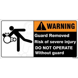 Do not operate without guard