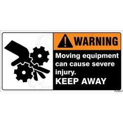 Moving equipment can cause severe injury