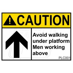 Avoid Walking under Platform Men Working Above