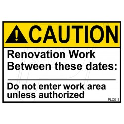 Renovation Work Do Not Enter Work