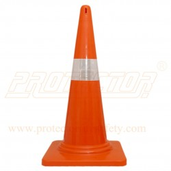 "Safety cone 750 mm with 4"" sleeve"